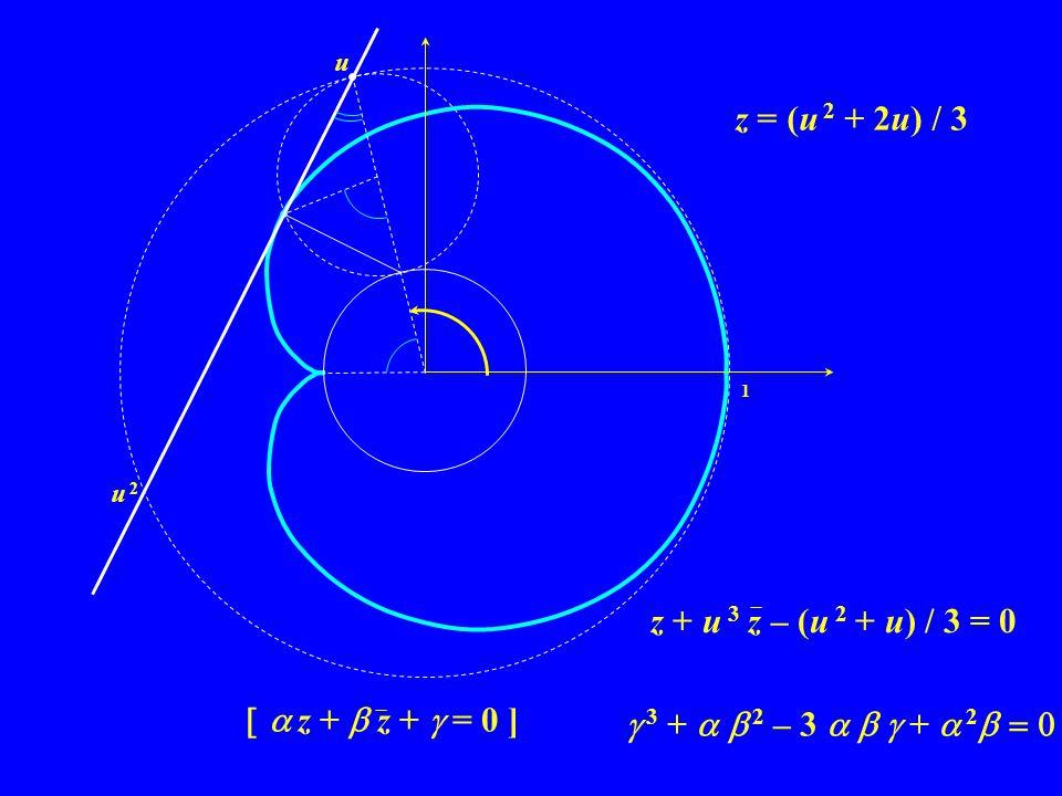 z = (u 2 + 2u) / 3 z + u 3 z – (u 2 + u) / 3 = 0 a z +  z +  = 0 ]